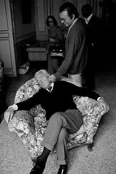 Mauro Galligani - Vittorio De Sica & Richard Burton, 1974