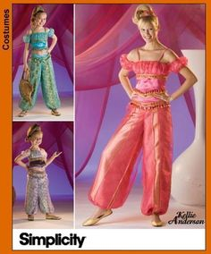 Diy Sewing Pattern-Simplicity 3626 -Jeannie Costume-All Sizes. $6.00, via Etsy.