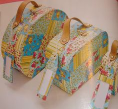 Kits in the Box- Presentes e Mimos Especiais: Kits Maletas em Tecido