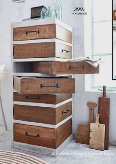 80 Awesome DIY Projects Pallet Shelves and RacksNew DIY Pallet Projects and I Wood Pallet Projects Awesome DIY Pallet Projects RacksNew Shelves Diy Pallet Furniture, Diy Pallet Projects, Home Projects, Pallet Ideas, Pallet Dresser, Wooden Furniture, Antique Furniture, Pallet Chair, 50 Diy Furniture Projects