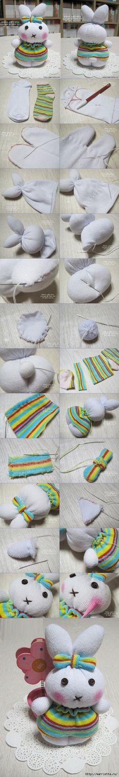 Conejito de calcetines