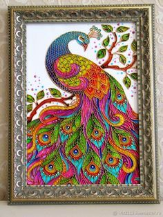 """""""Peacock"""" Stained glass painting - buy a wall - # Peacock Wall Art, Peacock Painting, Mural Painting, Mural Art, Fabric Painting, Glass Painting Patterns, Glass Painting Designs, Paint Designs, Madhubani Art"""
