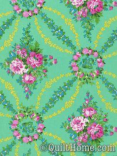 Beauty Queen PWJP088-Green Fabric by Jennifer Paganelli