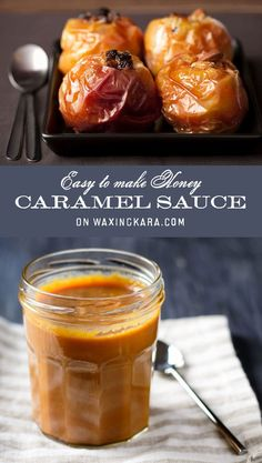 With fall in full swing-and Halloween just around the corner- it's the perfect time to indulge in a little sweetness with our Honey Caramel Sauce. Apple Desserts, Fun Desserts, Delicious Desserts, Dessert Recipes, Honey Caramel, Pumpkin Ice Cream, Chewy Brownies, Different Fruits, Honey Recipes