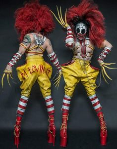 "jacsunshine: "" sixpenceee: "" A twisted Ronald McDonald Halloween costume "" fucking hell. """