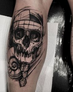 Sketch style skull by Felipe Rodrigues Fe Rod