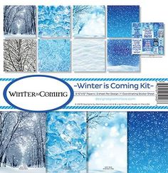 Winter Is Coming: Winter Is Coming Scrapbook Kit