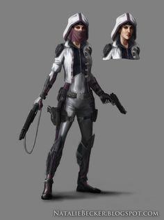 Sci-Fi Girl by Natalie-Becker on DeviantArt