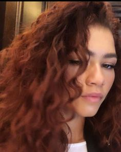 """""""can we talk about how gorgeous zendaya looks with red hair"""" Dyed Curly Hair, Curly Hair Tips, Curly Hair Styles, Natural Hair Styles, Ginger Hair Color, Red Hair Color, Zendaya Red Hair, Estilo Zendaya, Red Hair Inspo"""