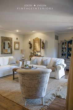 Edith & Evelyn - walls are Sherwin Williams Agreeable Gray - nice looking room