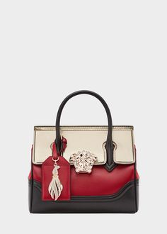 Versace Chinese New Year Palazzo Bag for Women Versace Bag, Versace Handbags, New Handbags, Fashion Handbags, Purses And Handbags, Fashion Bags, Leather Handbags, Calf Leather, Leather Bag