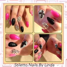 stiletto nails | Stiletto nail W/ Nail Art | NAILPRO
