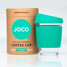 Mint JOCO Coffee Cup – Made From Glass