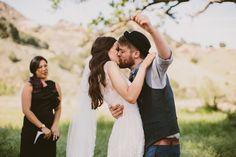 Malibu CA elopement ceremony.
