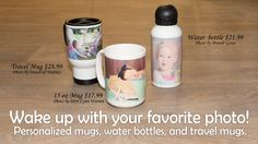 Your new favorite coffee mug is just a few clicks away. Print Your Photos, Great Photos, Terri Lynn, Photo Supplies, Personalized Photo Gifts, Travel Mug, Coffee Mugs, Bottle, Coffee Cups