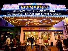 Ghirardelli Ice Cream & Chocolate Shop in the Gaslamp Quarter in San Diego, CA