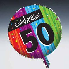 50th Birthday Decorations With Mylar Balloons Metallic Foil Party