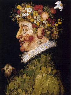 This is a piece of art representing food from the Renaissance time. This piece of art was composed by Giuseppe Arcimboldo. I think it was supposed to represent the beauty of the food from the Renaissance time. Giuseppe Arcimboldo, Italian Painters, Italian Artist, Google Art Project, Art Beat, Photo Images, Bing Images, Spring Painting, Spring Art