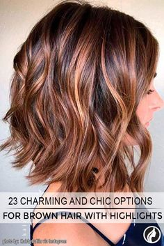 Idea Tendance Coupe & Coiffure Femme New Tendance Coiffure Hair Color Ideas For Brunettes Brown Hair Shades, Brown Hair With Blonde Highlights, Light Brown Hair, Brown Hair Colors, Brown Hair With Highlights And Lowlights, Fall Highlights, Copper Highlights, Fall Hair Colors, Light Hair