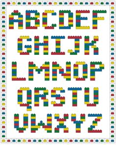 Brick Alphabet Cross Stitch Pattern. Cute! Wish I had more time! Might buy this down the line