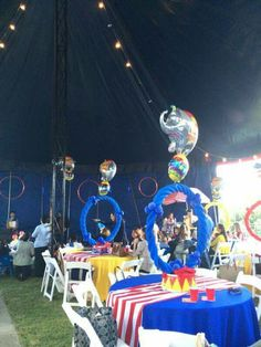 Circus Centerpieces, Circus Party Decorations, Circus Carnival Party, Circus Theme Party, Birthday Centerpieces, Carnival Birthday Parties, Carnival Themes, First Birthday Parties, Party Themes