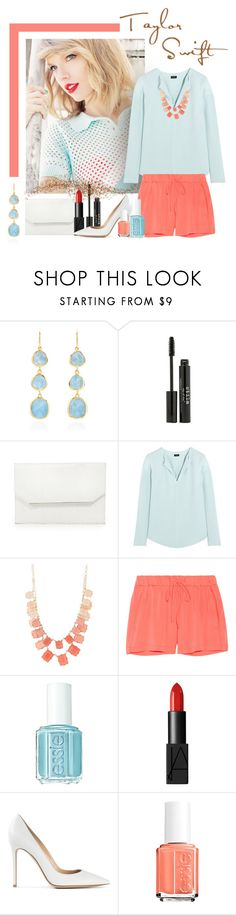 """""""Happy Birthday Taylor Swift!"""" by chebear ❤ liked on Polyvore featuring Monica Vinader, Stila, BCBGMAXAZRIA, Joseph, Natasha Accessories, Milly, Essie, NARS Cosmetics, Gianvito Rossi and taylorswift"""