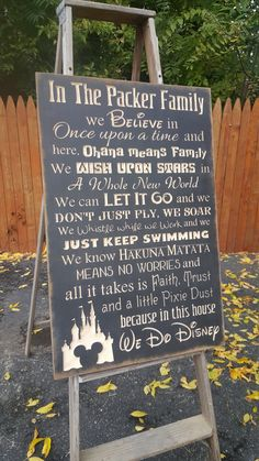 "Personalized Carved Wooden Sign - ""Family, WE DO DISNEY"" by HayleesCloset on Etsy"