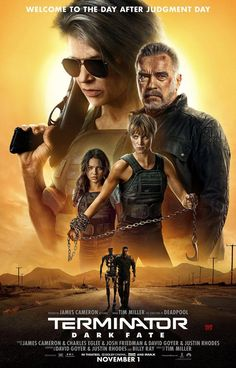 Terminator Dark Fate Movie Poster Glossy Print Photo Wall Art Linda Hamilton Arnold Schwarzenegger S