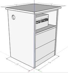 Nightstand for CPAP Machine #5: Tweeking the Sketchup Model - by LegendInMyOwnMind @ LumberJocks.com ~ woodworking community