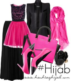 Hashtag Hijab Outfit #195 mini dress n long skirt? never think about that before.. should try