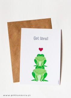 Oot kiva. I like you. Valentine's Day postcard. 4.20 €