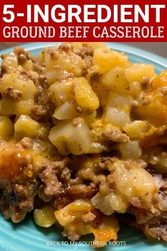 Ground beef casserole is such an easy meal to cook. It only requires five ingredients and is done in less than an hour. It will feed the entire family. recipes with ground beef Ground Beef Recipes For Dinner, Dinner With Ground Beef, Casseroles With Ground Beef, Ground Beef Potato Casserole, Ground Beef Dishes, Crockpot Recipe With Ground Beef, Ground Beef Recepies, Easy Ground Beef Meals, Beef Casseroles Dinners