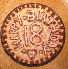 18th birthday cookie