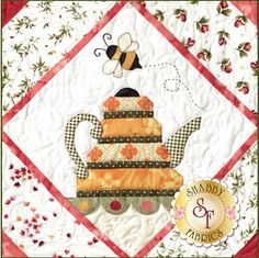 Garden Tea Party BOM - Bloc du Mois - Laser Cut - Quilt Company - Shabby Fabrics