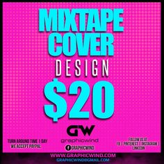 We create Unique and Attractive Mixtape Cover with a fast turn around time. For high-quality designs Contact us at web: www.graphicwind.com or please email us to graphicwind@gmail.com Flyer Design, Logo Design, Graphic Design, Web Technology, Mixtape, Creative Design, Shirt Designs, Cover, Create