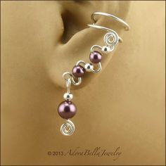Sterling Silver Ear Cuffs with Your Choice of by AdoraBellaJewelry