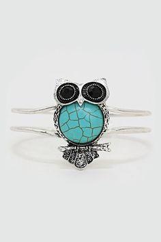 Turquoise Owl Bracelet on Emma Stine Limited