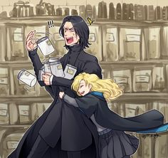 When Snape is hugged