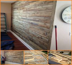 Isn't this accent wall made from repurposed pallets interesting?  View how it has been created in this album here http://theownerbuildernetwork.co/rgiq  Don't forget to let us know your opinion about this project.