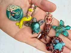Mermaids & Turtles | Handmade Glass Lampwork Beads by Lisa Hanna, LH Bead Gallery | Visit our bead store in Panama City, Florida today! LHBeads.com