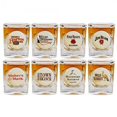 Kentucky Bourbon Trail 8-pk Shot Glass Set