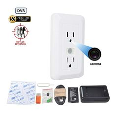 Discounted Mini Nanny Cam 15 days Long Standby Electrical Outle Camera Hidden Video Recorder self Loop Record Hidden Security Camera with PIR Sensor Motion Detection Home Security Tips, Security Cameras For Home, Hidden Cameras For Home, Security Products, Security Surveillance, Security Alarm, Surveillance System, Security Service, Wireless Video Camera