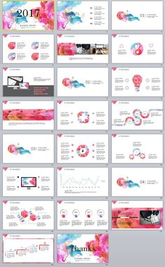 23+ colorful business report PowerPoint templates