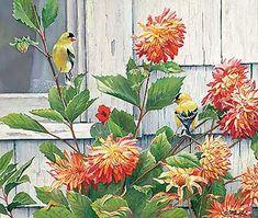 Cottage-Window-Goldfinch-Original.jpg (355×300)