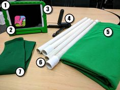 Great post from Ryan O'Donnell on how he sets up his Green Screen kits (multiple so the kids aren't rushed) for his school and what he likes to use to get the most out of the technology for their projects. Green Screen Backdrop, Teaching Computers, Christmas Art Projects, 21st Century Learning, Diy Photo Booth, Instructional Technology, Resource Room, Blended Learning, Kits For Kids