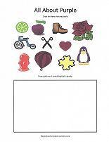 color purple worksheet