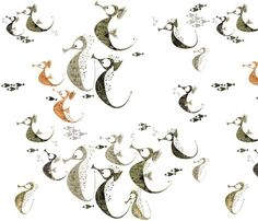 Wild Horse Stampede By Mulberry Tree on Spoonflower - Fabric Design