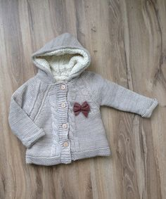 Beige Bow Fleece-Lined Sweater - Infant, Toddler & Girls