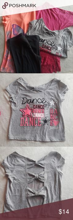 M L Girl/'s Grey Gray Epic Dancer Tank T-shirt Sizes S