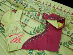 Embroidery Blouse Designs Cotton 28 Ideas For 2019 Cutwork Blouse Designs, Cotton Saree Blouse Designs, Patch Work Blouse Designs, Salwar Neck Designs, Simple Blouse Designs, Stylish Blouse Design, Blouse Back Neck Designs, Blouse Patterns, Embroidered Blouse